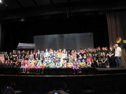 The cast and crew of The Wizard of Oz