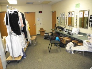 ...costumes hang at the ready...